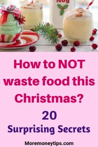 How to NOT waste food this Christmas
